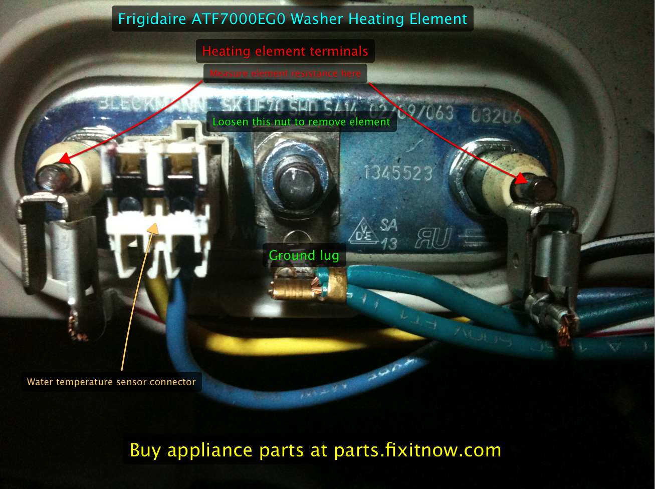 Frigidaire ATF7000EG0 Washer Heating Element