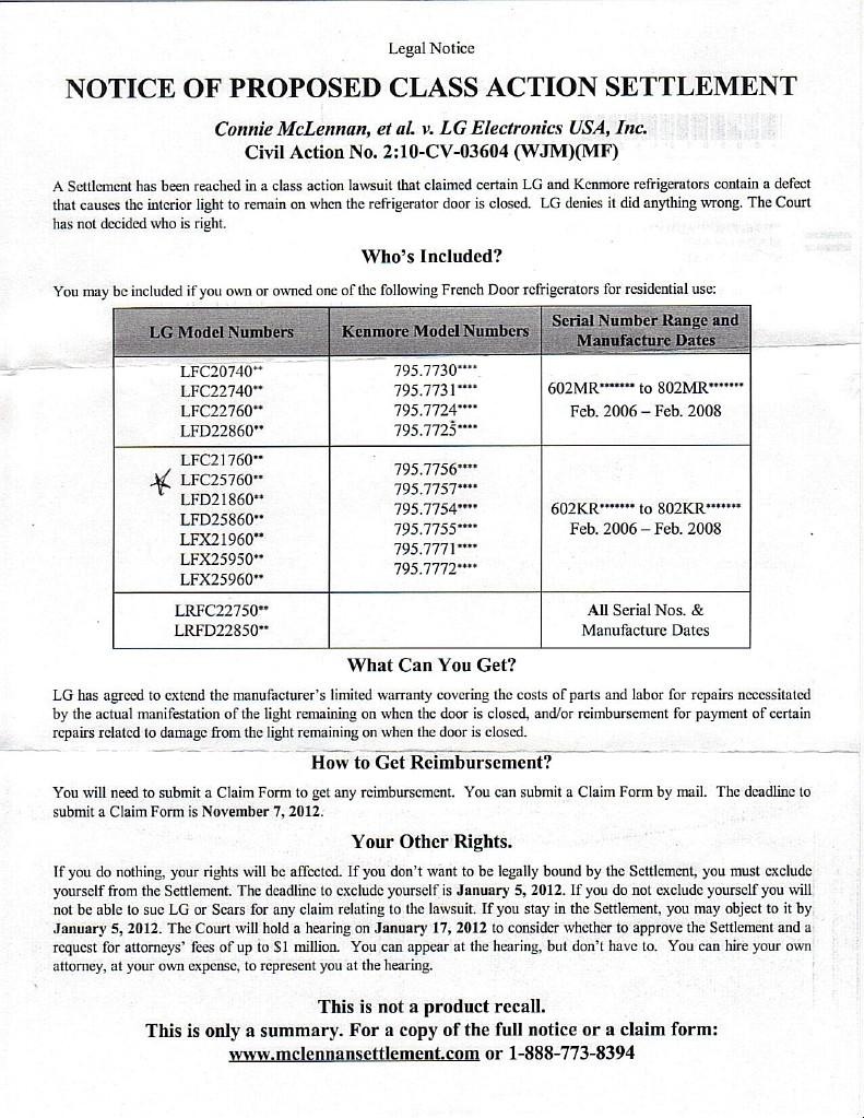LG Class Action Lawsuit