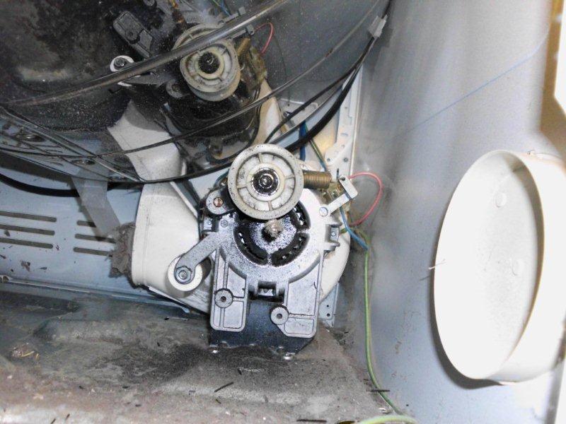 ASKO T700 Pulley And Motor Before Repair