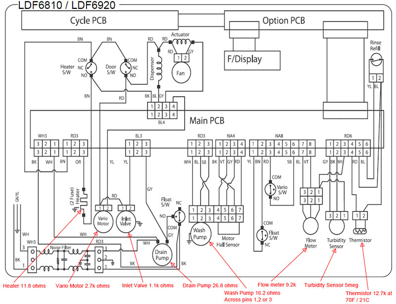 LDF6810 LDF6920 Series Wiring diagram