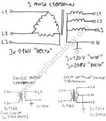 Three-Phase and Single Phase Voltage Step-Down