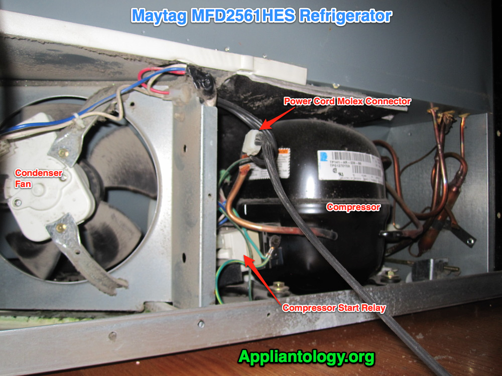 Compressor Compartment Anatomy In A Maytag Mfd2561hes