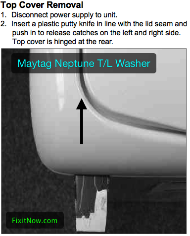Popping The Hood On A Maytag Neptune Top Loading Washer