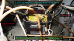 Sub-Zero 561 refrigerator: compressor compartment