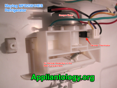 Damper Assembly in a Maytag MFD2561HES Refrigerator