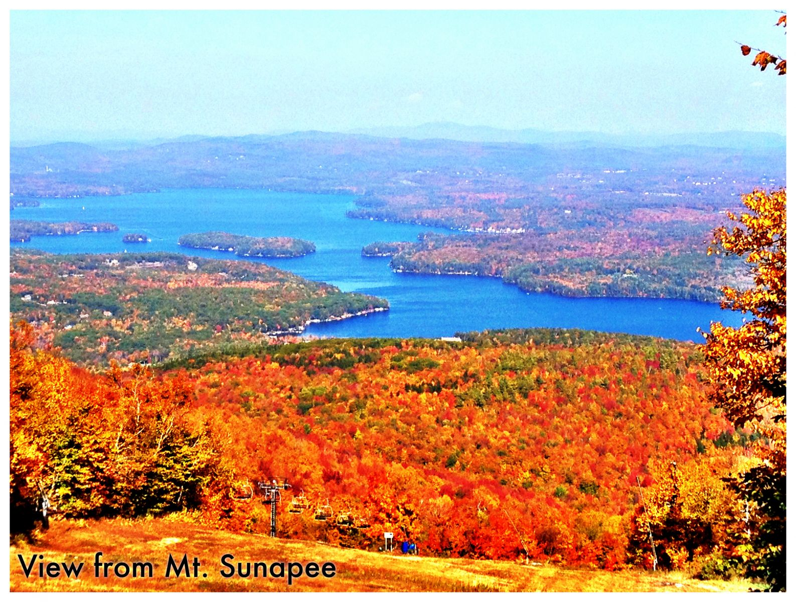 View from Mt. Sunapee