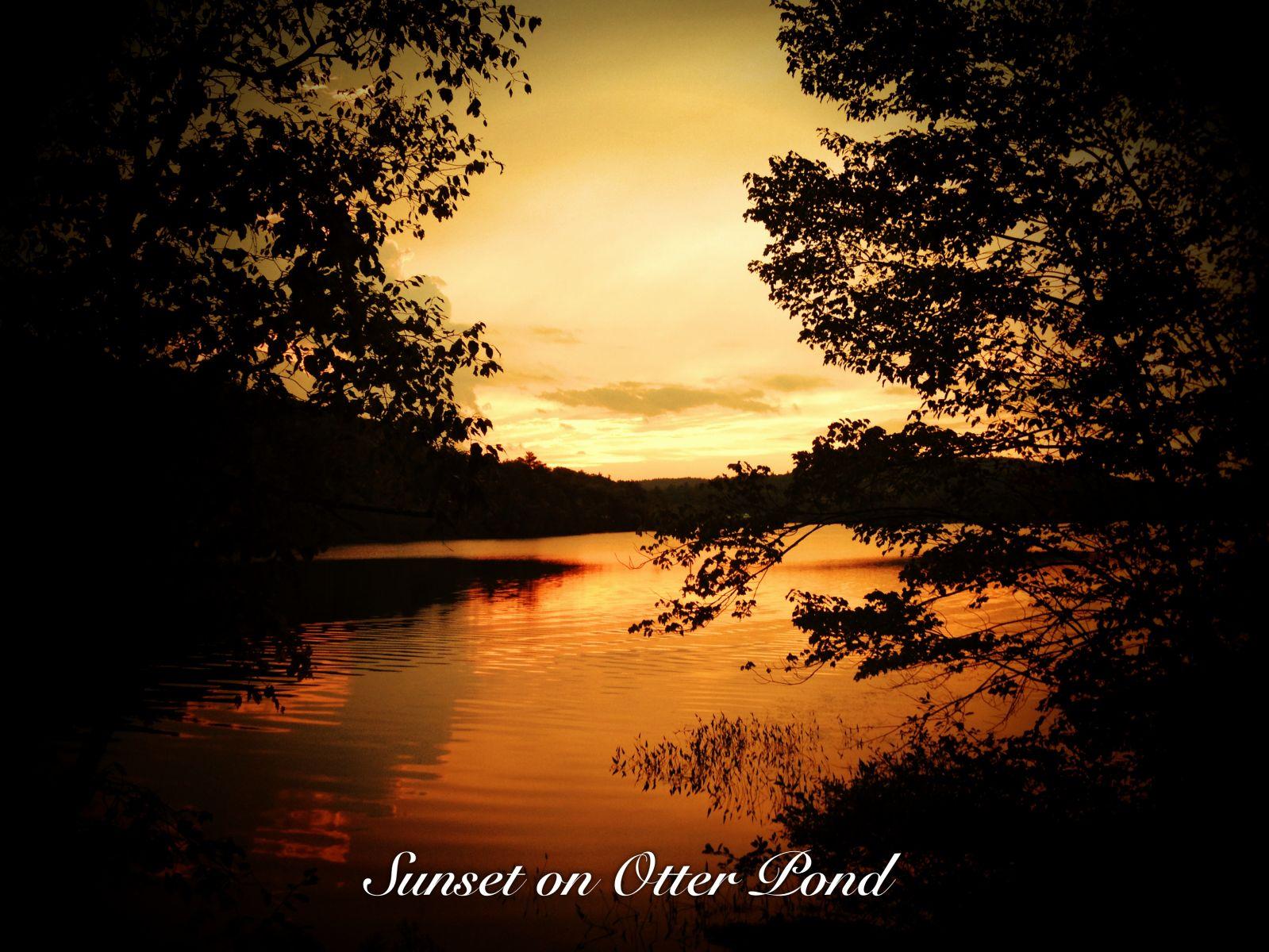 Sunset on Otter Pond
