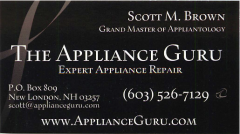 The Appliance Guru Bidness Card