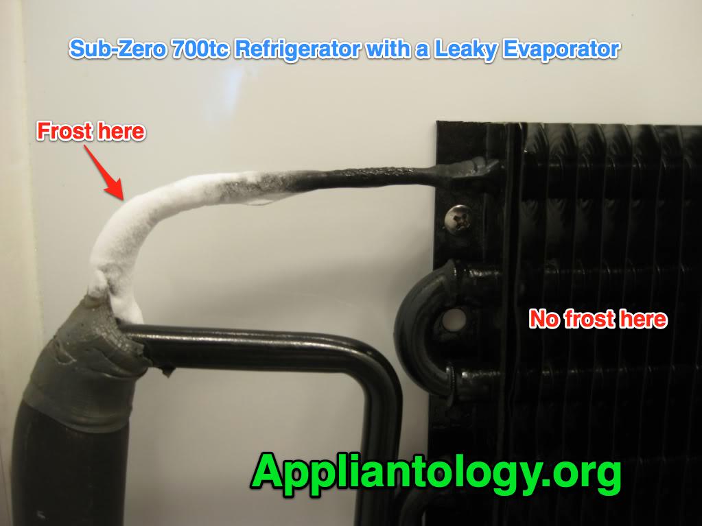 Sub Zero 700tc Refrigerator with A Leaky Evaporator