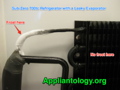 Sub Zero 700tc Refrigerator with A Leaky Evaporator