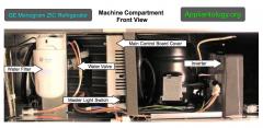 GE Monogram ZIC Refrigerator Machine Compartment Front View