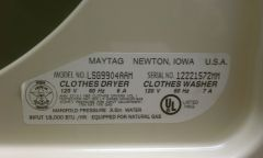 Maytag Model Info