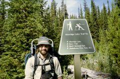 Moostafa at the Trail Head