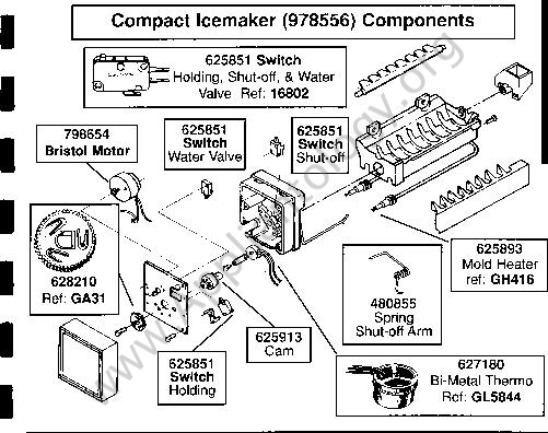 Whirlpool Ild-Style Icemaker Breakdown Diagram