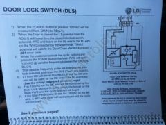 LG Titan Washer Training: Door Lock Switch, 1