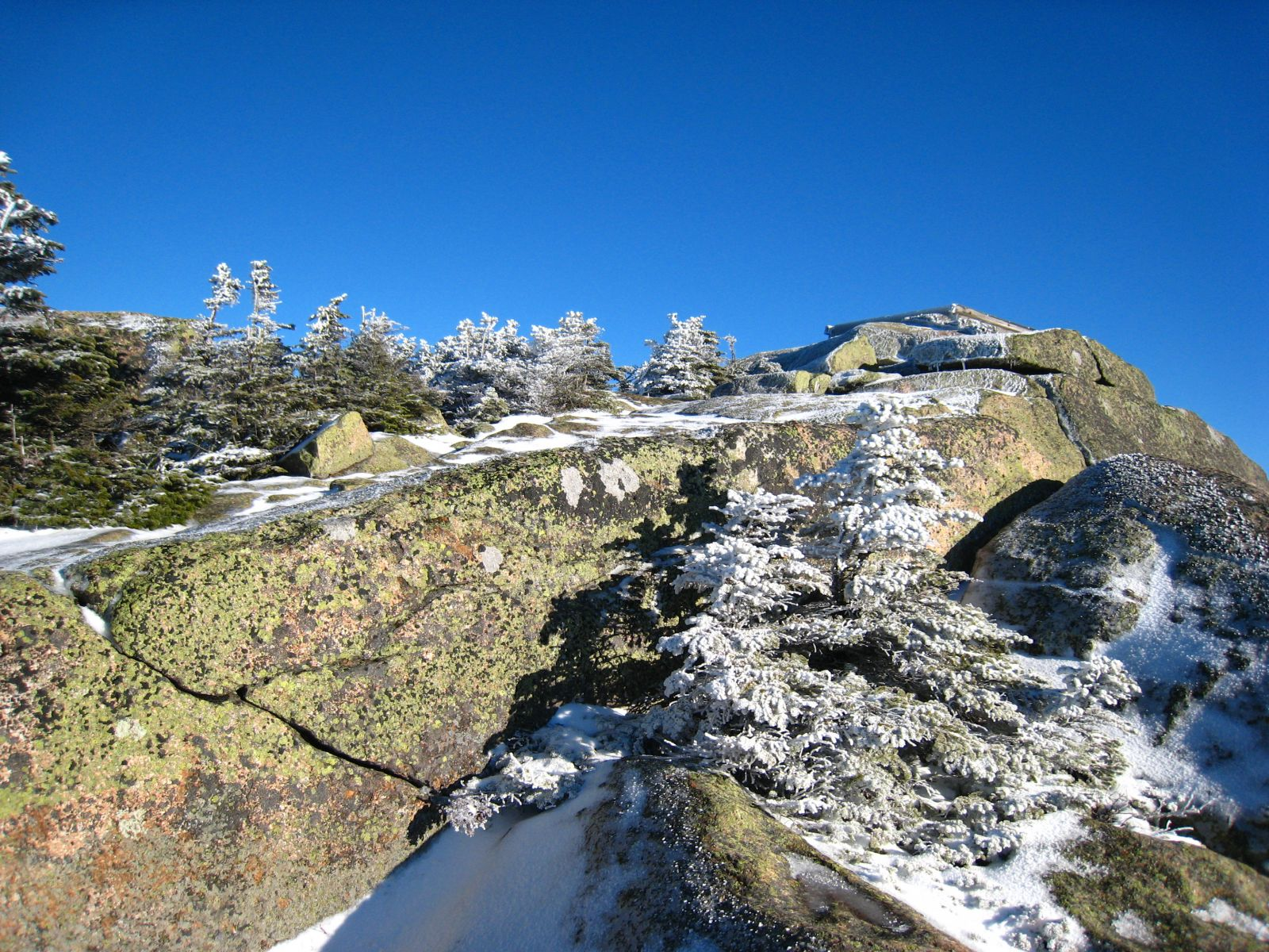 Looking up to the summit of Mt. Garfield