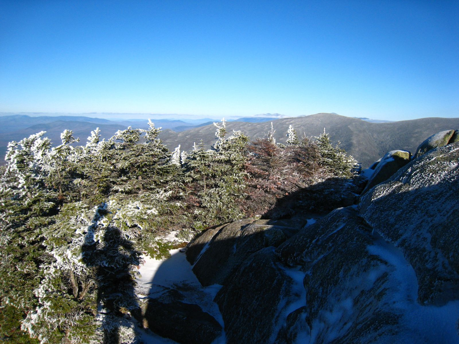 View from the Summit of Mt. Garfield with a Hello Shadow
