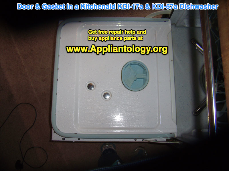 Door & Gasket in a Kitchenaid KDI-17a & KDI-57a Dishwasher