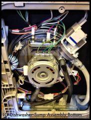 Underneath an LG Dishwasher
