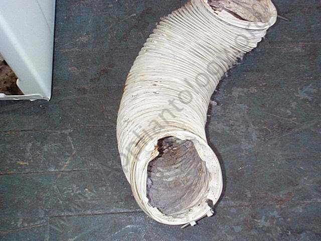 Commonly-used, Fire-hazard Dryer Venting Material