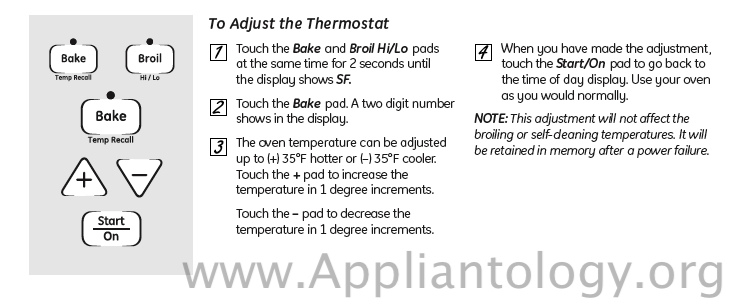Hotpoint RGB Range Oven Temperature Calibration
