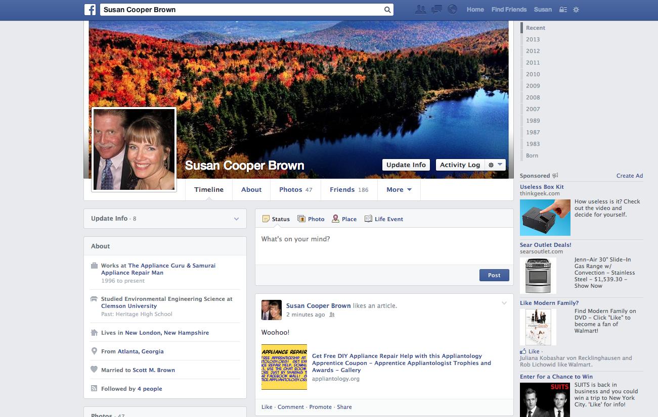 Appliantology Coupon FaceBook Share Screenshot