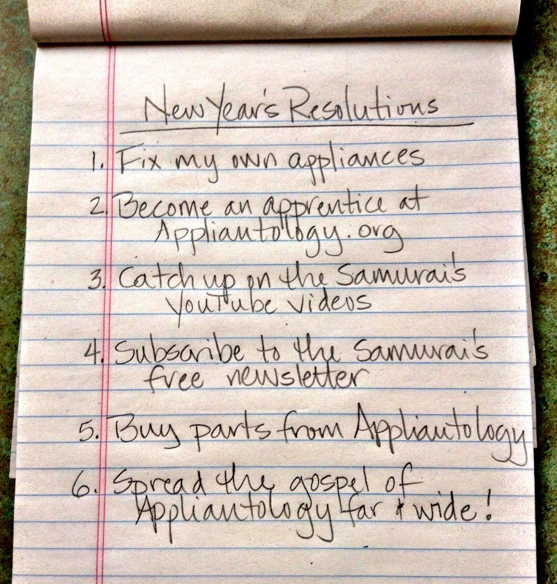 New Years Resolutions for 2014