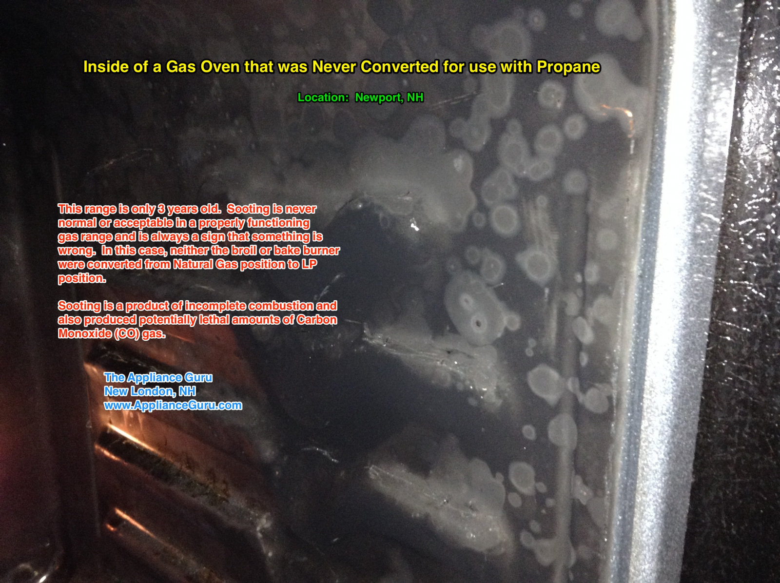 Inside A Gas Oven that Was Never Converted For Use with Propane