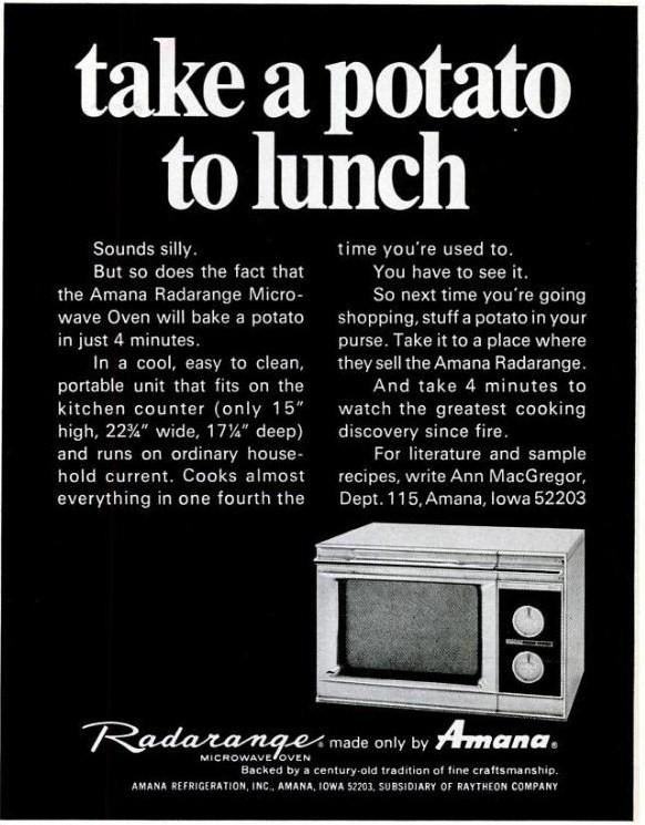 Amana Radarrange Microwave take A potato To work