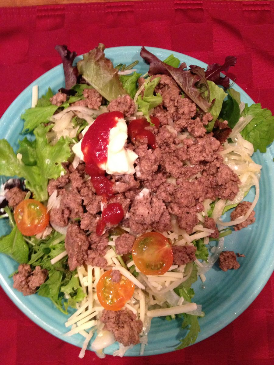 Hamburger salad