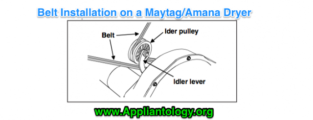 Belt Installation On A Maytag Amana Dryer