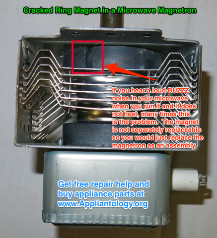 Cracked Ring Magnet In A Microwave Magnetron