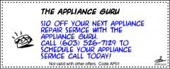 Discount Coupon for Your Next Service Call with The Appliance Guru