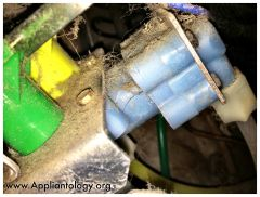Freeze crack in a Frigidaire Refrigerator Water Inlet Valve