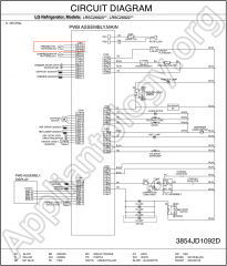 LG Refrigerator LRSC26910 Schematic Diagram