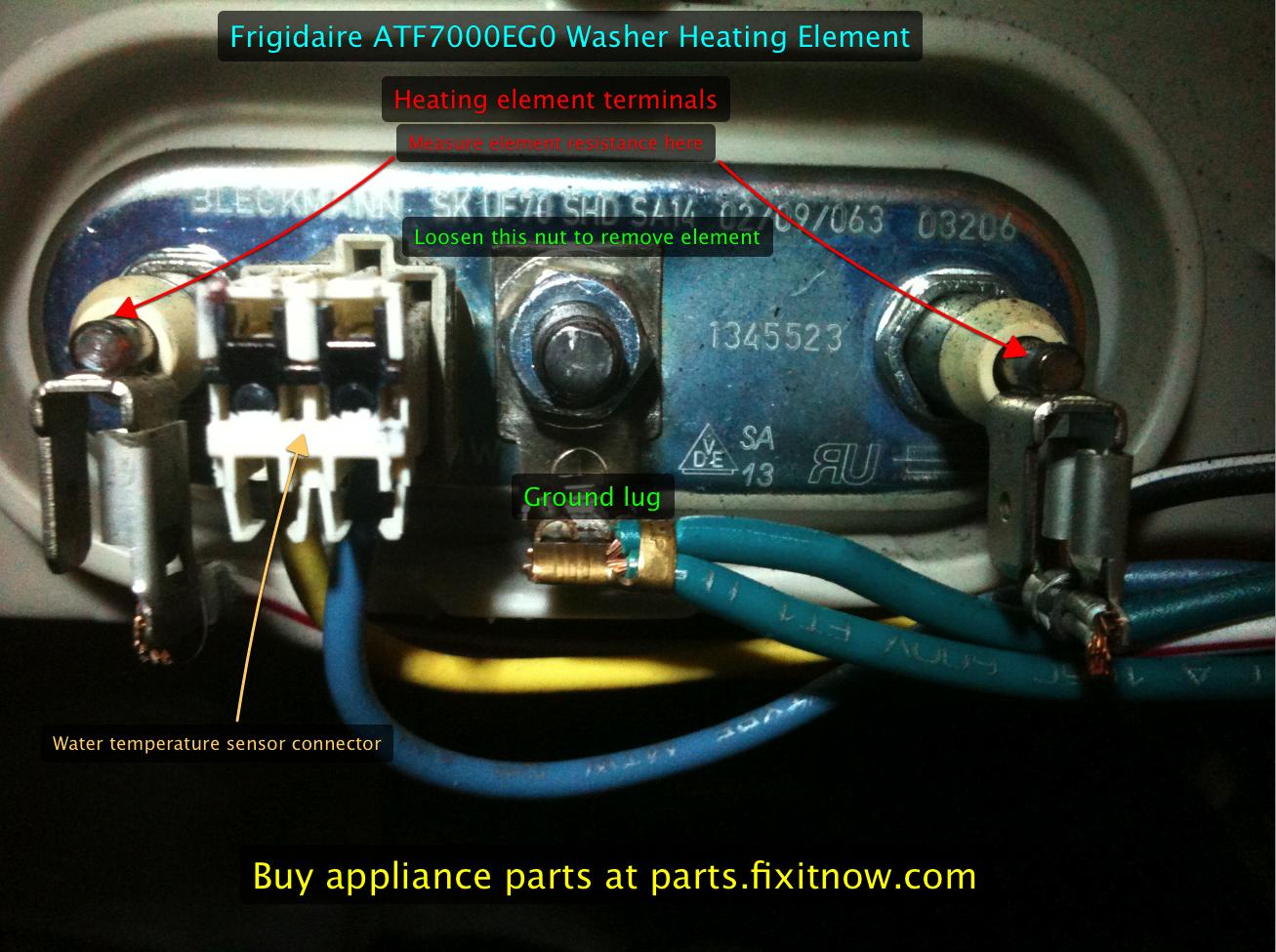 Frigidaire ATF7000EG0 Washer Heating Element