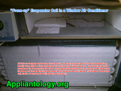 Froze-up Evaporator Coil In A Window Air Conditioner