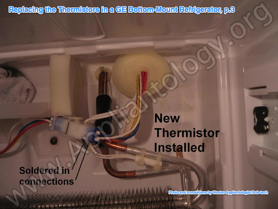 Replacing The Thermistors In A GE Bottom Mount Refrigerator, P.3
