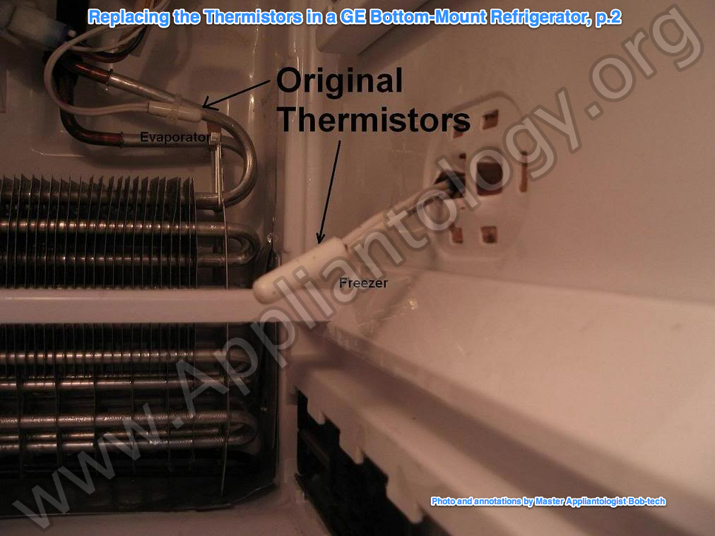 How to properly replace the thermistors in a refrigerator ... Ge Schematic Diagram Psi Sgna on