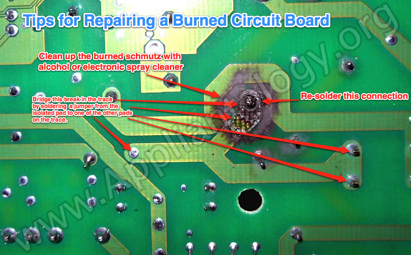 Tips For Repairing A Burned Circuit Board