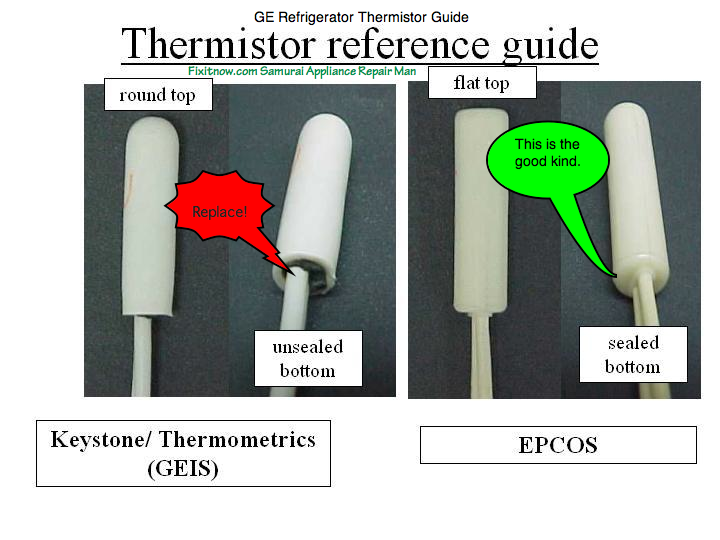 GE Refrigerator Thermistor Reference Guide