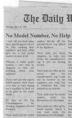 No Model Number, No Help!