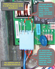 The Samurai Test For The Defrost Circuit In A GE Refrigerator with A Muthaboard