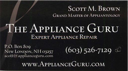 The Appliance Guru Bidness Card
