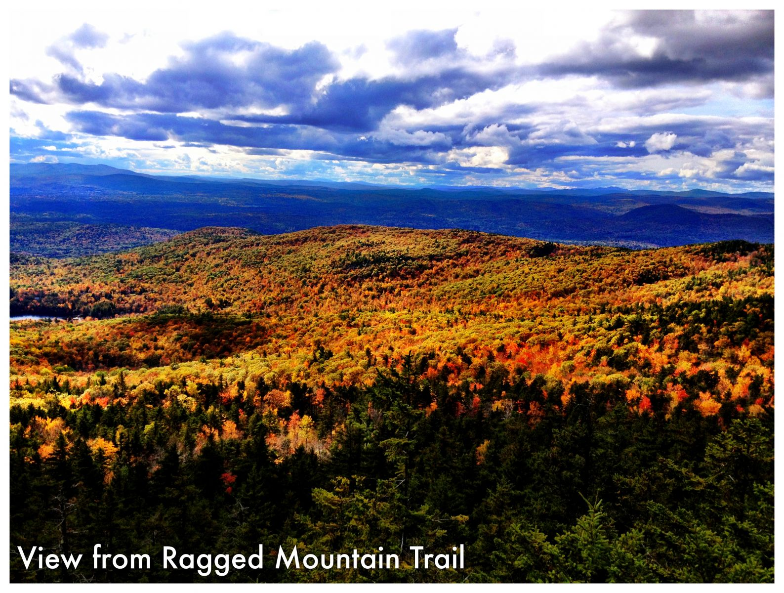View from the Ragged Mountain Trail