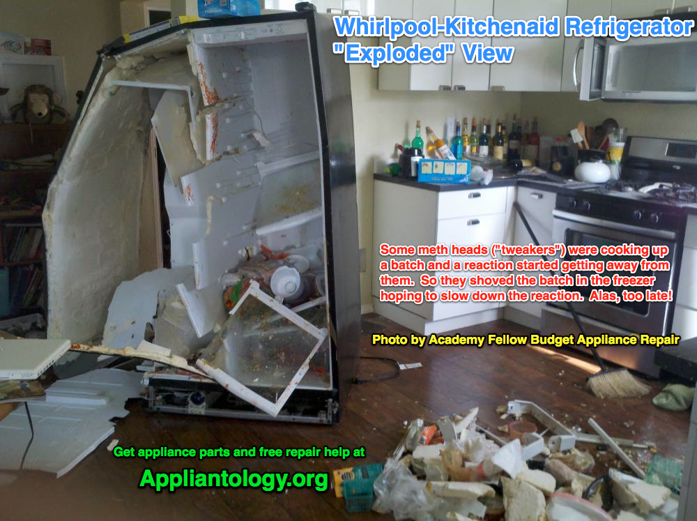 Whirlpool Kitchenaid Refrigerator Exploded View