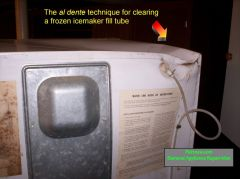 Al Dente Technique For Clearing A Frozen Icemaker Fill Tube