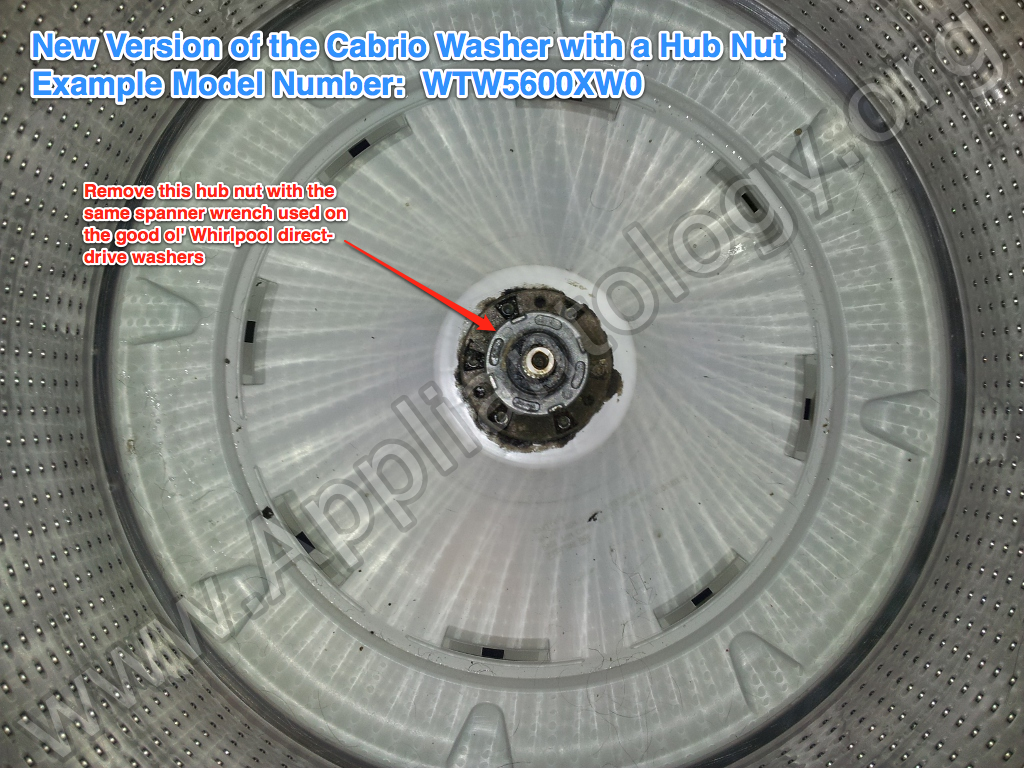 New Version Of The Cabrio Washer With A Hub Nut The