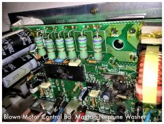 Blown Motor Control Board in a Maytag Neptune MAH5500BWW Washer