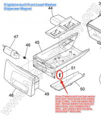 Frigidaire built Front Load Washer Dispenser Magnet